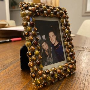 Beaded Jeweled Mini Picture Frame